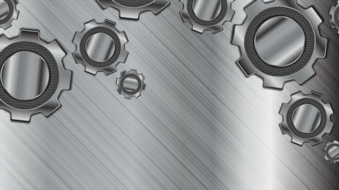 Abstract technology metallic gears mechanism video animation Animation