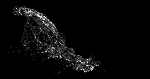 Water splashes slow motion footage. Liquid, fluid drops wave macro shot isolated Live Action
