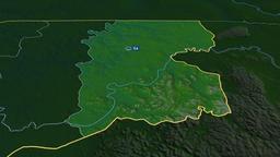 Gabu - region of Guinea Bissau. Physical Animation