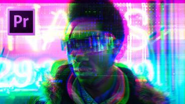 Cyberpunk Glitch Transition Premiere Pro Template