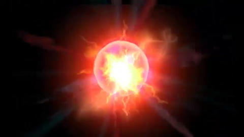 Red Energy Ball_001 Animation