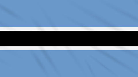 Botswana flag waving cloth background, loop Animation