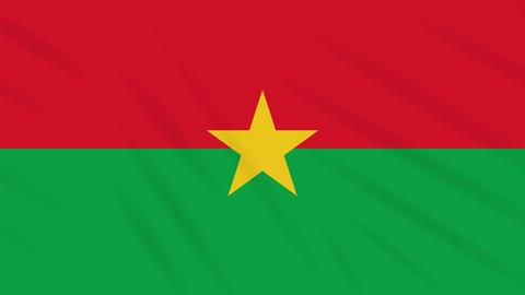 Burkina Faso flag waving cloth background, loop Animation
