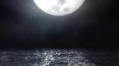 Moonlight Reflection on Water Waves Seascape Loop Cinemagraph GIF
