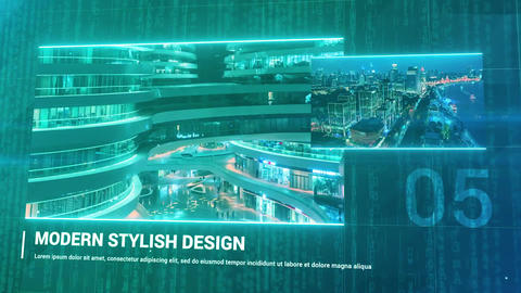 Cyber - Sci-Fi Slideshow Premiere Proテンプレート