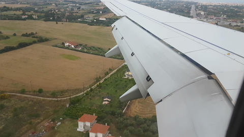 Thessaloniki Greece 19 June 2016. Landing in SKG airport Macedonia Footage