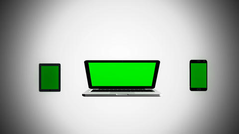Animation of Laptop, Smart Phone and Tablet PC Animation