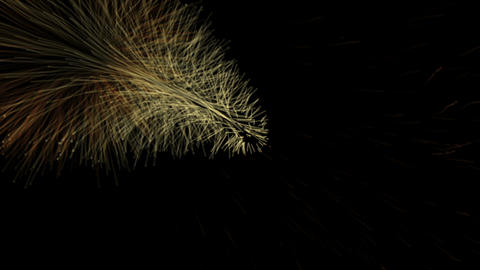 Background with glowing particles Animation