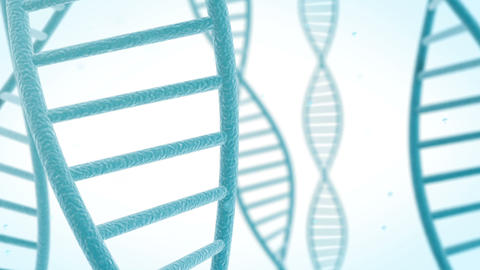 Rotating DNA structure Animation