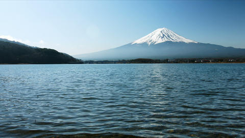 Mount Fuji low angle Footage