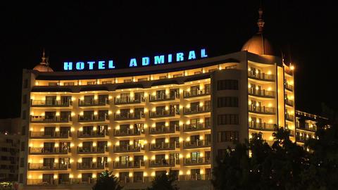 Hotel Admiral. The Golden Sands resort. Varna. Bulgaria Footage