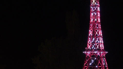 A copy of the Eiffel tower. Varna. Golden Sands. Resort in Bulgaria Footage