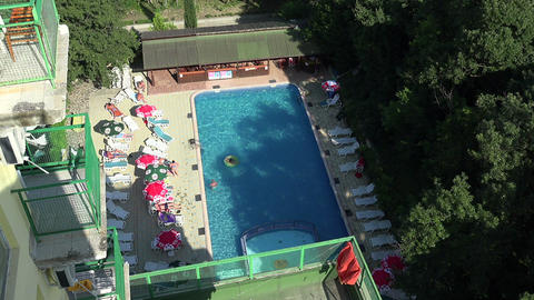 The pool at the hotel in Bulgaria Footage
