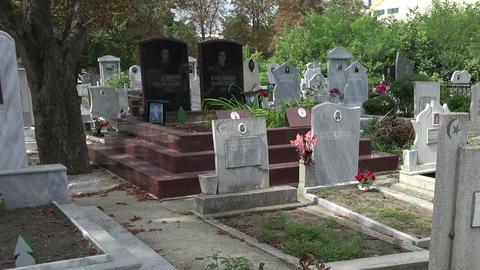Muslim cemetery. Varna. Bulgaria Footage