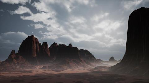 Rocky Desert Landscape Live Action