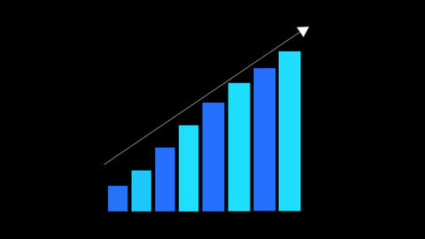 Animated Bar chart diagram. Growth business/financial concept Animation