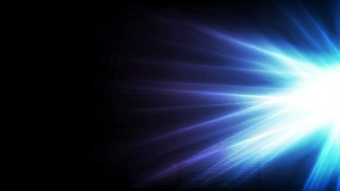 Blue glowing shiny rays abstract video animation Animation