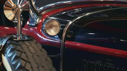 Light of old vintage vehicle Live Action