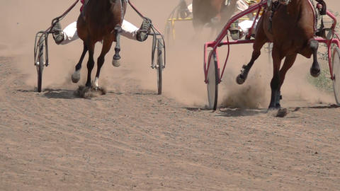 Horse Racing Of The Wagons Live Action