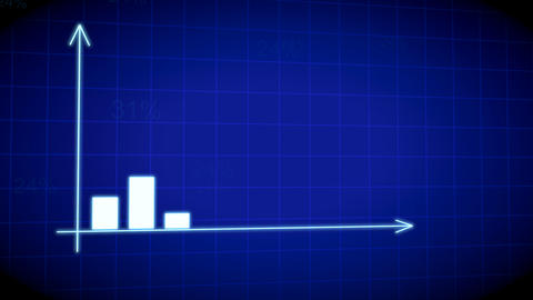 Business futuristic bar graph chart diagram with arrows axis. Growth chart business concept Animation
