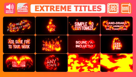 Extreme Titles After Effects Template