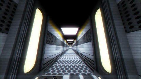 Futuristic Science Fiction Corridor 7 Animation
