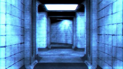 Scary Holographic Hospital Corridor 3 Animation