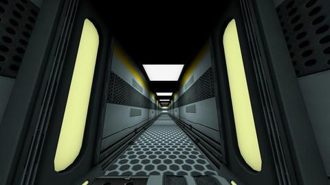 Futuristic Science Fiction Corridor 1 Animation