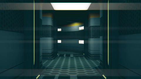 Sci-Fi Space Station Futuristic Corridor 3D Animation 5 Animation
