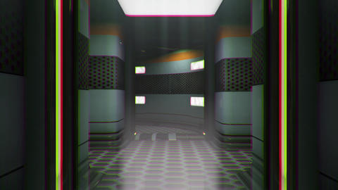 Sci-Fi Space Station Futuristic Corridor 3D Animation 6 Animation