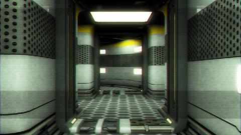 Futuristic Science Fiction Corridor 9 Animation