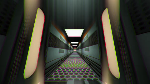 Futuristic Science Fiction Corridor 3 Animation