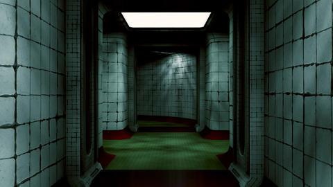 Abandoned Fallout Shelter Corridor 2 Animation