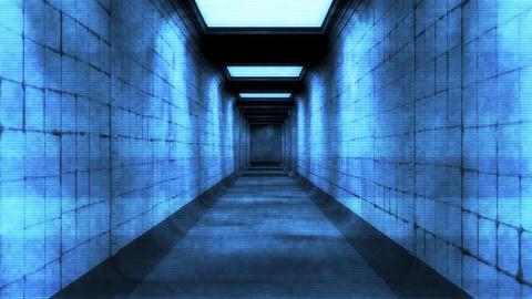 Scary Holographic Hospital Corridor 9 Animation