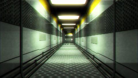 Futuristic Science Fiction Corridor 8 Animation