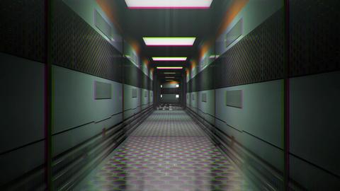 Sci-Fi Space Station Futuristic Corridor 3D Animation 3 Animation