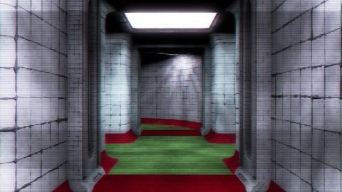Scary Holographic Hospital Corridor 4 Animation