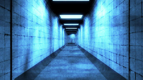 Scary Holographic Hospital Corridor 1 Animation