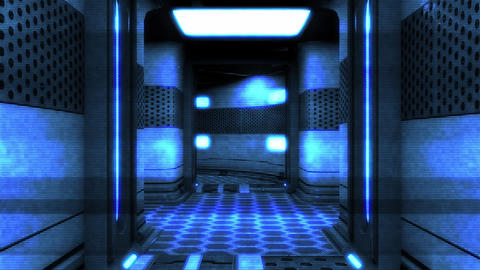 Sci-Fi Futuristic Corridor Holographic Design 2 Animation