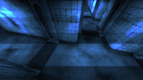 Spooky Mental Asylum Corridor Holographic Design 1 Animation