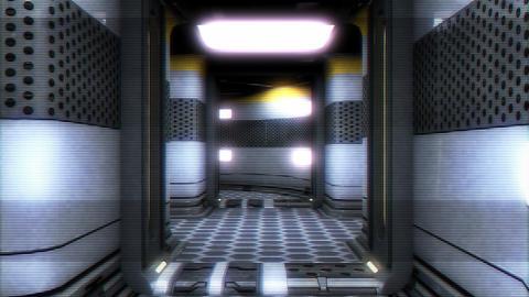 Sci-Fi Futuristic Corridor Holographic Design 3 Animation