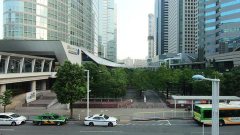 Japan city landscape. Tokyo, near Shinagawa Live Action