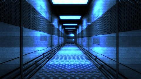 Sci-Fi Space Station Futuristic Corridor 3D Animation 7 Animation