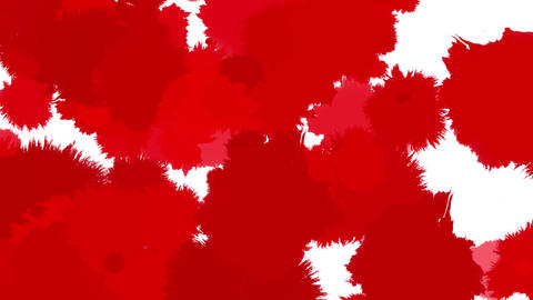 paint bleeding _ red_ white background Animation