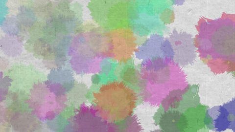 paint bleeding _ color_ Japanese paper background 2 Animation