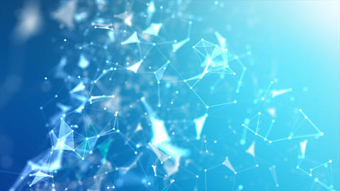 Abstract background Futuristic dot point and connection... Stock Video Footage