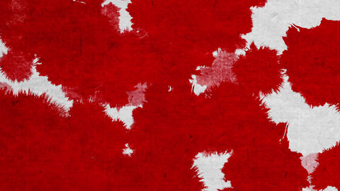 paint bleeding _ red_ Japanese paper background CG動画