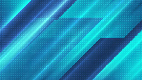Bright blue technology stripes abstract video animation Animation