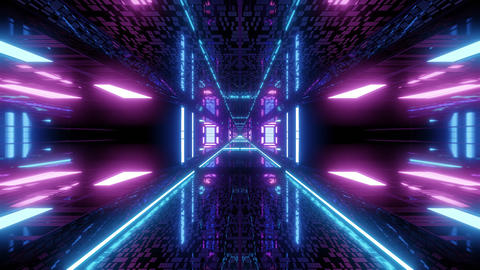 textured scifi glitter tunnel corridor wallpaper background 3d illustration Animation