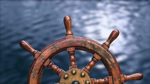 Moving Ships Wheel Animation
